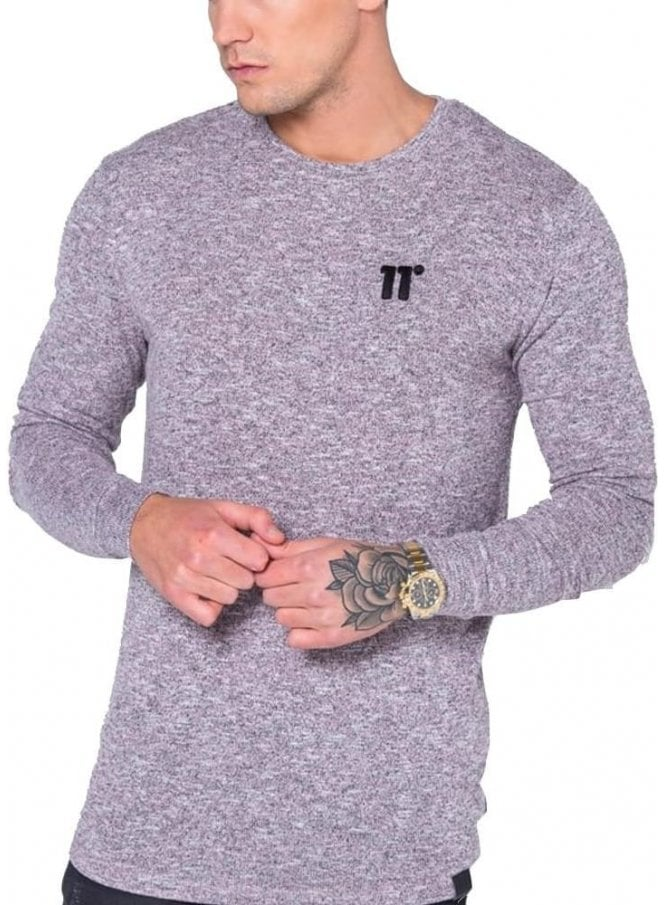 11 DEGREES Composite Long Sleeved Tshirt Pink/black