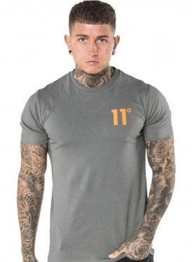 Contrast Logo Tshirt Dark Grey/orange