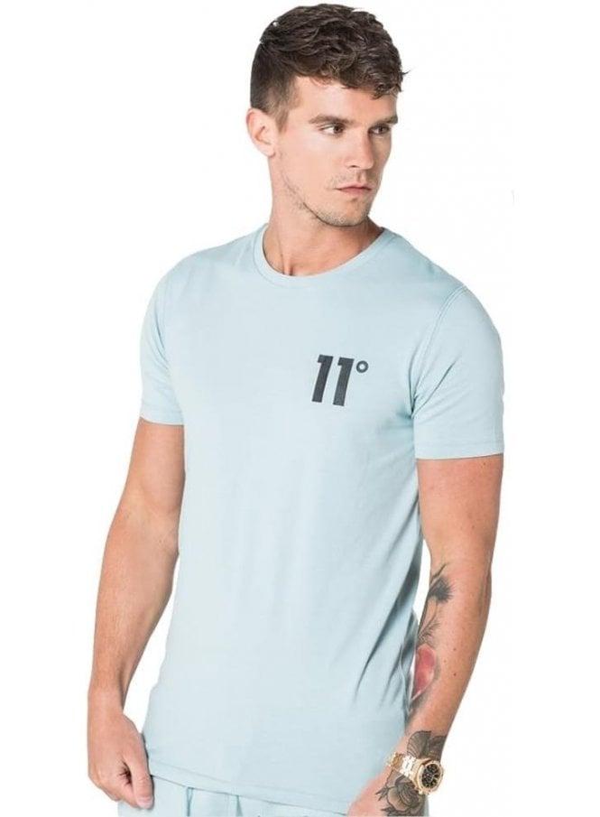 11 DEGREES Core Crew Neck Tshirt Chalk Blue