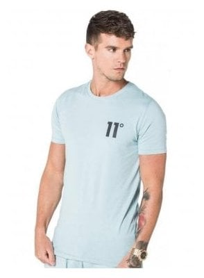 Core Crew Neck Tshirt Chalk Blue