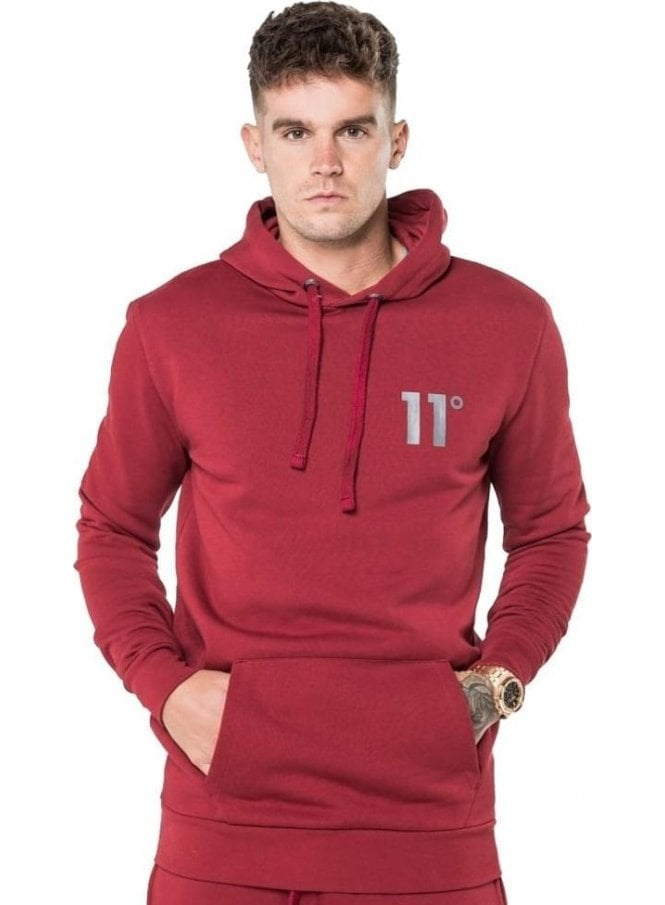 11 DEGREES Core Pull Over Hoodie Burnt Red