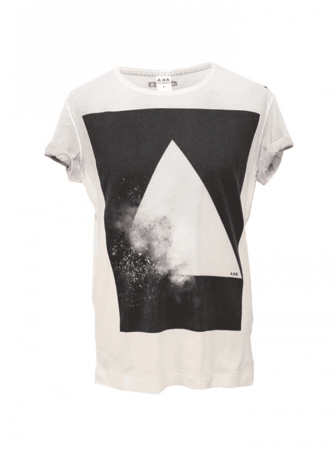 A.K.A AKA Explosion Over Sprayed Tee White/black