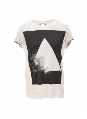 AKA Explosion Over Sprayed Tee White/black
