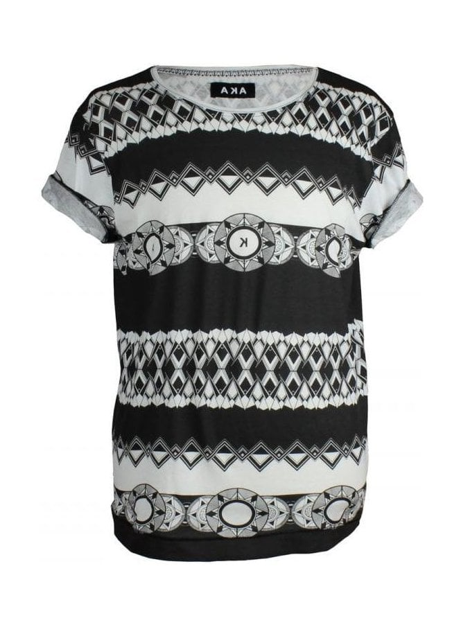 A.K.A Printed T-Shirt Black/white