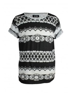 A.K.A Printed T-Shirt Black/white
