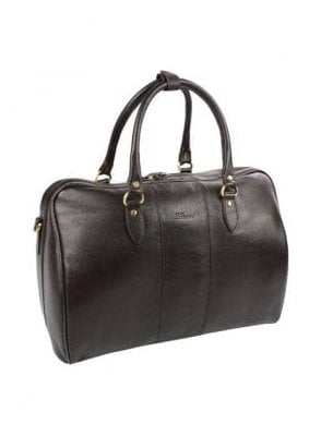 Harry Cow Tumble Leather Weekender Duffle Bag Travel Brown