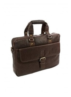 Messenger Laptop Brief Case Leather Bag Brown