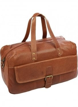 Weekender Overnight Leather Travel Bag Tan
