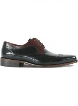 London Lace Up Mens Formal Dress Shoe Black/burgundy