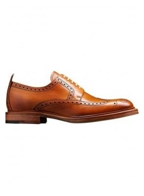 Bailey Leather Brogue Shoe Tan Made in England