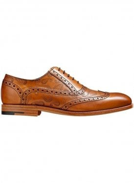 Grant Tattoo Lazer Print Lace Up Shoe Cedar Calf/paisley Laser