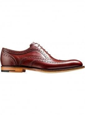 Jensen Laced Brogue Shoe Cherry Calf/brown