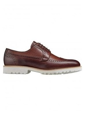 Barker Leather Brogue Vi-lite White Sole Walnut Calf Made in England