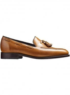 Leather Litchfield Loafer Moccasin Shoe Tan Made in England