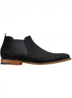 Lester Suede Chelsea Boot Black Suede