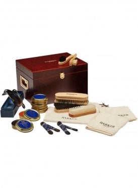 Shoe Cleaning Wooden Valet Box