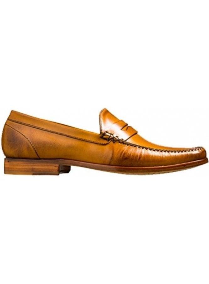 BARKER William A Lockstitch Moccasin Loafer Leather Cedar Calf