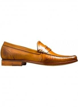 William A Lockstitch Moccasin Loafer Leather Cedar Calf