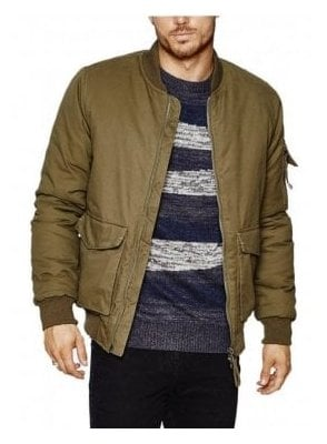 Blimp Washed Bomber Jacket Khaki