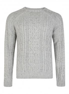 Cheveley Cable Jumper With Nep Ecru
