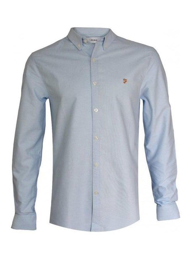 FARAH VINTAGE Brewer Slim Long Sleeve Shirt 468
