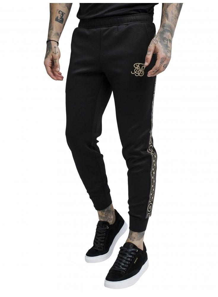03096baf Cartel Cropped Cuffed Track Pants - Black - designer Menswear-ghia men