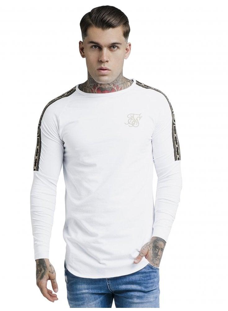 068b6047fb55 Cartel Long Sleeve Gym Tee - White - Designer Menswear - Ghia Menswear