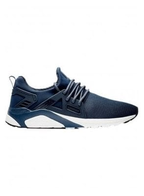 Mens Black Mesh Trainer CT 8000 Runner Navy/white