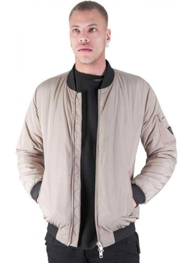 CREATIVE RECREATION Oakwood Bomber Style Jacket Dark Stone