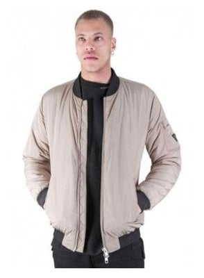 Oakwood Bomber Style Jacket Dark Stone
