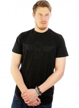 Printed Logo Tshirt Black