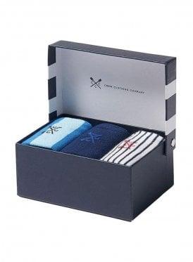 3 Pack Bamboo Sock Box