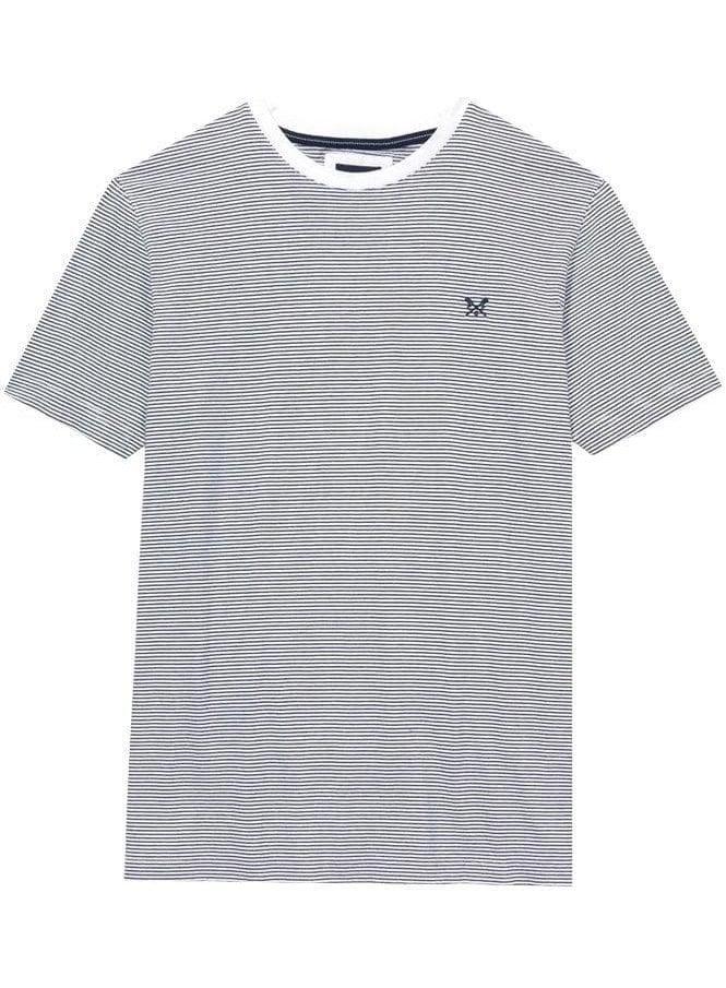CREW CLOTHING Fine Stripe T-Shirt