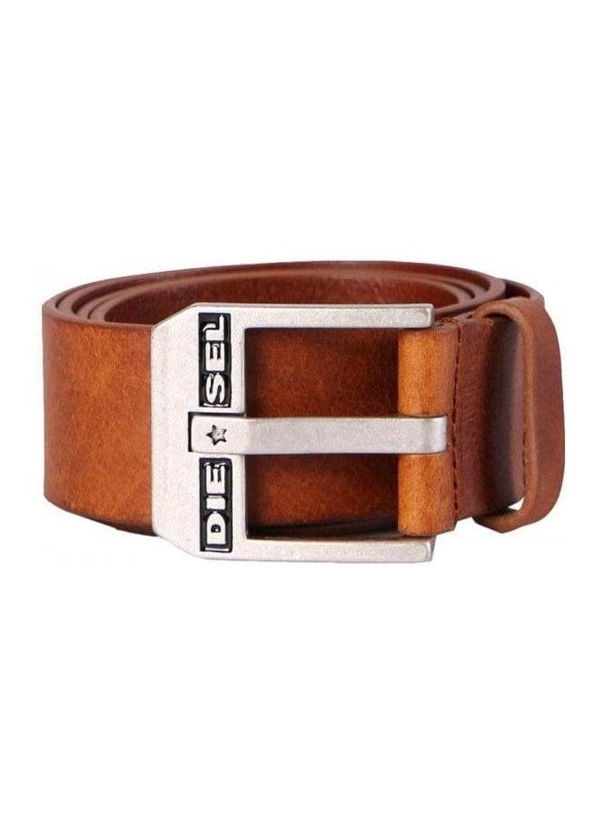 DIESEL Bluestar Leather Belt Light Brown T2217