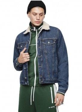 D-Gioc-Fur Jacket Blue