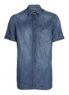 D-kendall S/s Denim Shirt Denim Blue