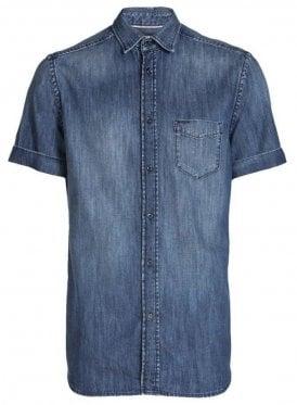 D-kendall S/s Denim Shirt Denim Blue