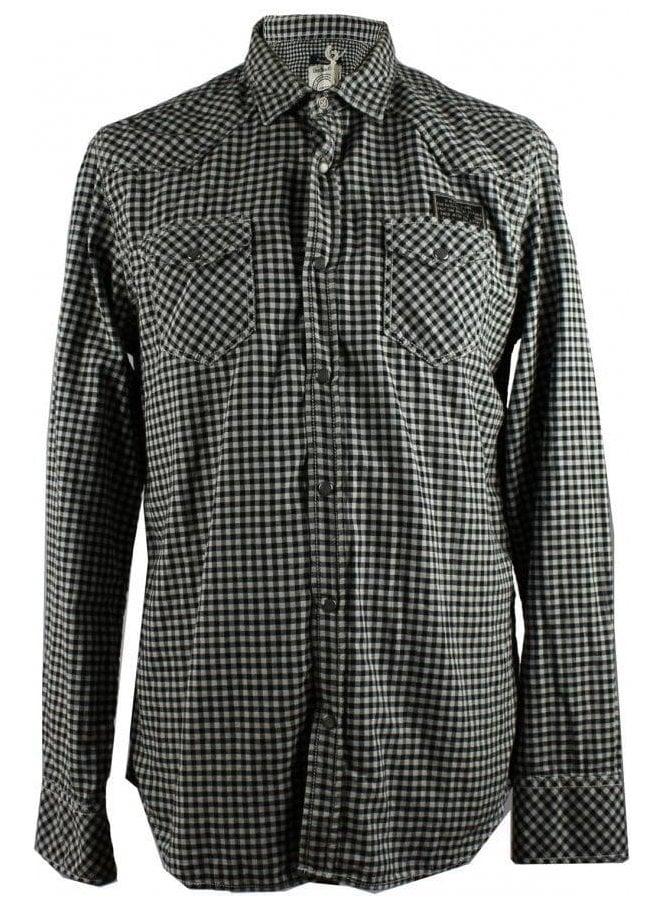 DIESEL black and white checkered shirt