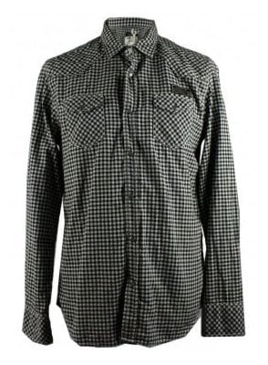 Diesel black and white checkered shirt