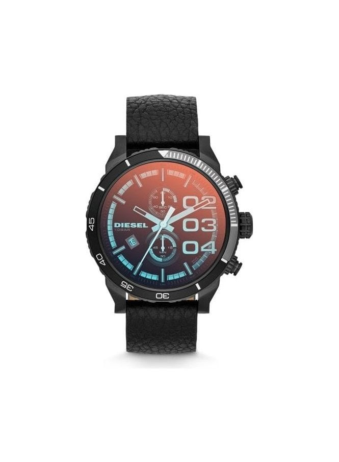 DIESEL Double Down 48 Chronograph Sport Design Black Watch