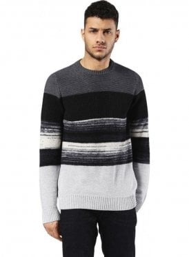 K-baccanalis Chunky Knit Ribbed Sweater Black