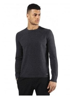 K-bonis Crew Neck Knitwear Jumper Charcoal