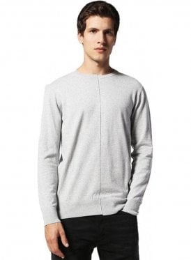 K-coast Knitwear Crew Neck Fine Knit Jumper Grey