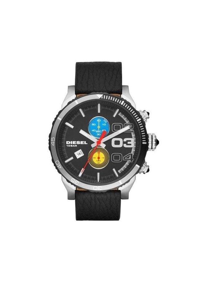 DIESEL Large Black Chronograph Black watch