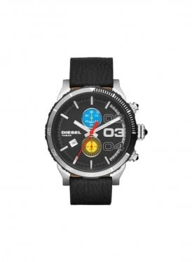 Large Black Chronograph Black watch