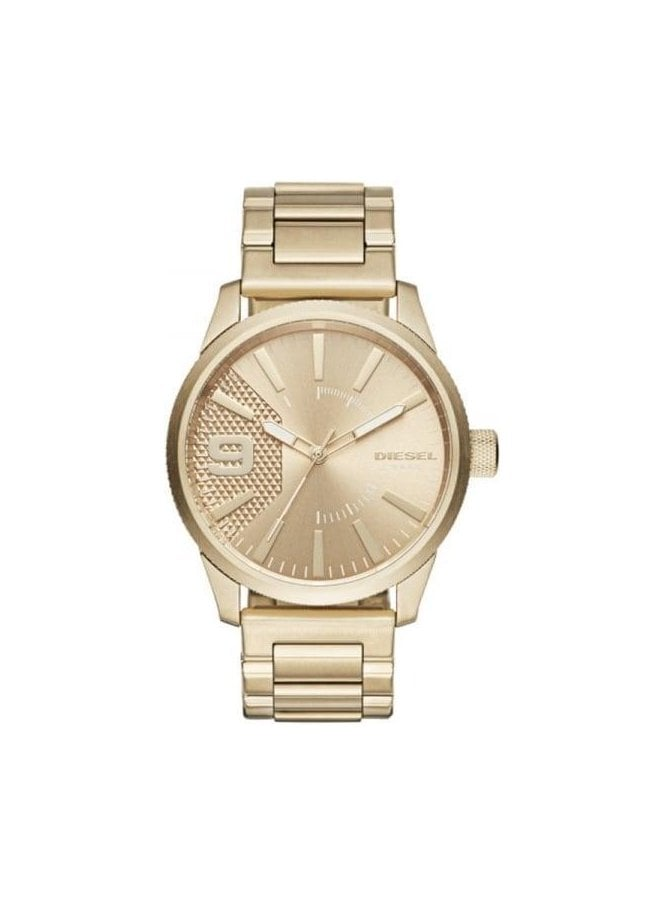 DIESEL Mens Rasp Gold Watch DZ1761