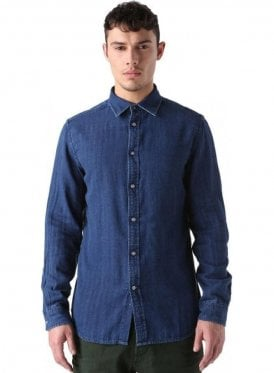 S-cramberries Long Sleeved Shirt Denim Blue