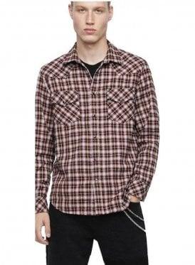 S-East Long-B Shirt Red/White