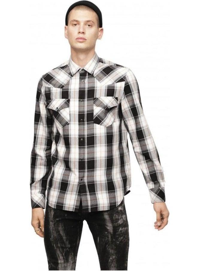 DIESEL S-East Long-E Shirt - White/Black