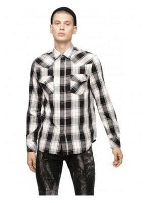 S-East Long-E Shirt - White/Black